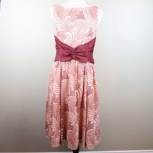 Nanette Lepore Silk Painted Plume Holiday Dress